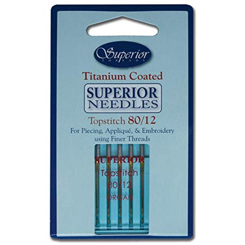 Superior Titanium Coated Needles Size 80/12 5ct
