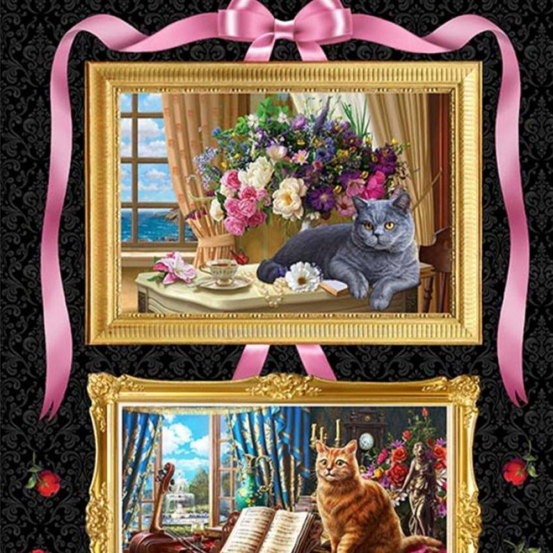 Madame Victoria's Elegant Cats Panel 10262