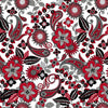 Black, White & Red Hot White/Multi Flower  2439-01