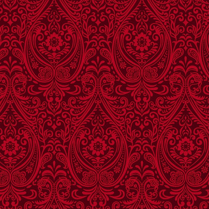 Black, White & Red Hot Red Arabesque 2441-88