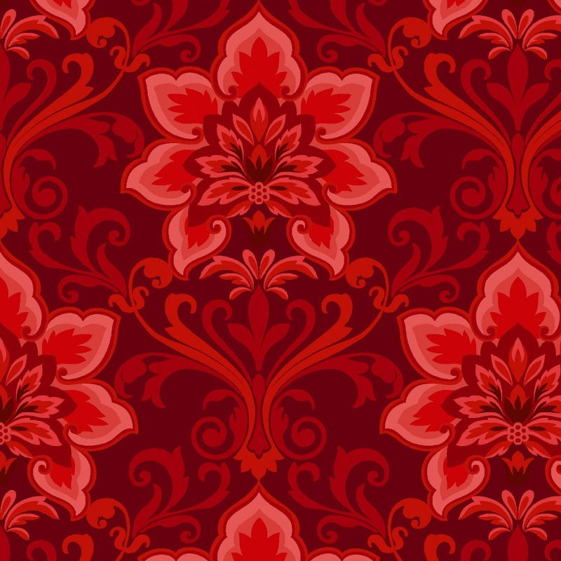 Hometown Holiday Red Damask  2474-88