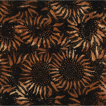 Copper Sunflower Batik 884-172