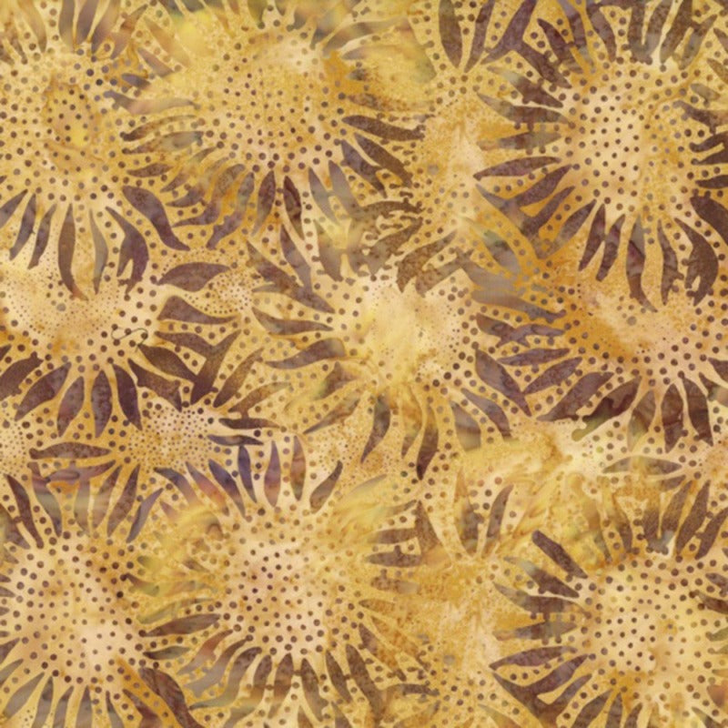 Amber Sunflower Batik 884-36