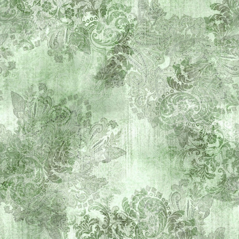 Vintage Farmhouse 2 Sage  MRD10-77 Digitally Printed