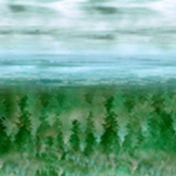 Painted Forest  Pine Scene Ombre MRD2-141