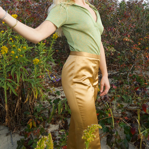 Gold Silk Trousers