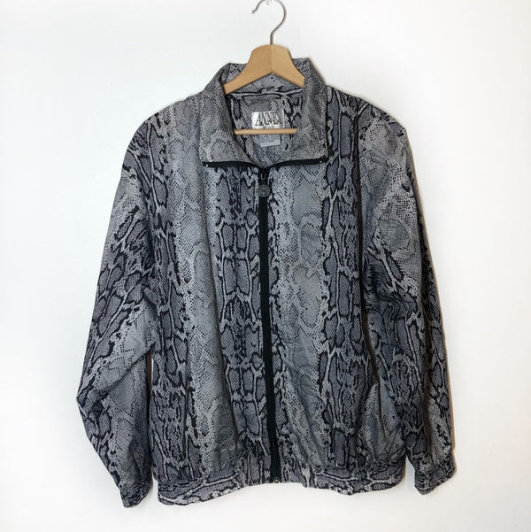 Snakeskin Zip Windbreaker