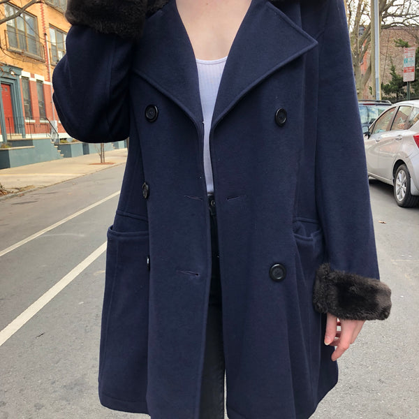 Midnight Blue Pea Coat