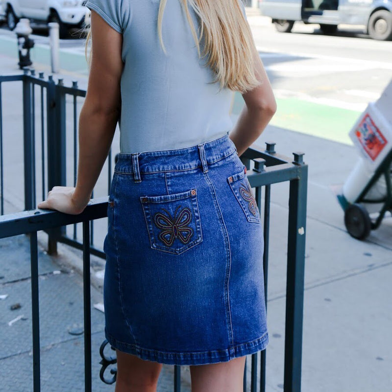 Roxy Butterfly Denim Skirt