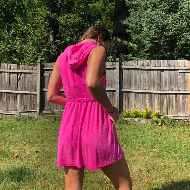Hot Pink Towel Dress