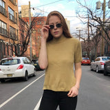 Golden Girl Mock Neck Sweater