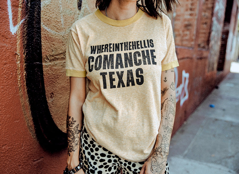 Where is comanche texas vintage ringer shirt