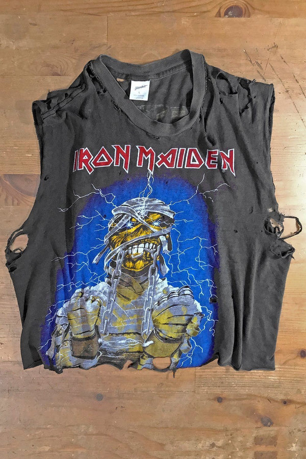 Authentic Rare '85 Destroyed & Thin IRON MAIDEN World Slavery Tour Tee