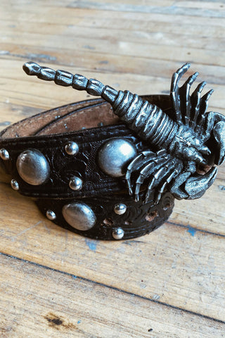 1970s Leather Zodiac Wrist Cuffs: PISCES