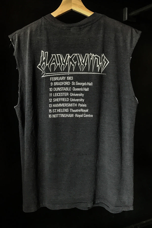 Rare 1982 Hawkwind Tissue Thin 50/50 Muscle Tee