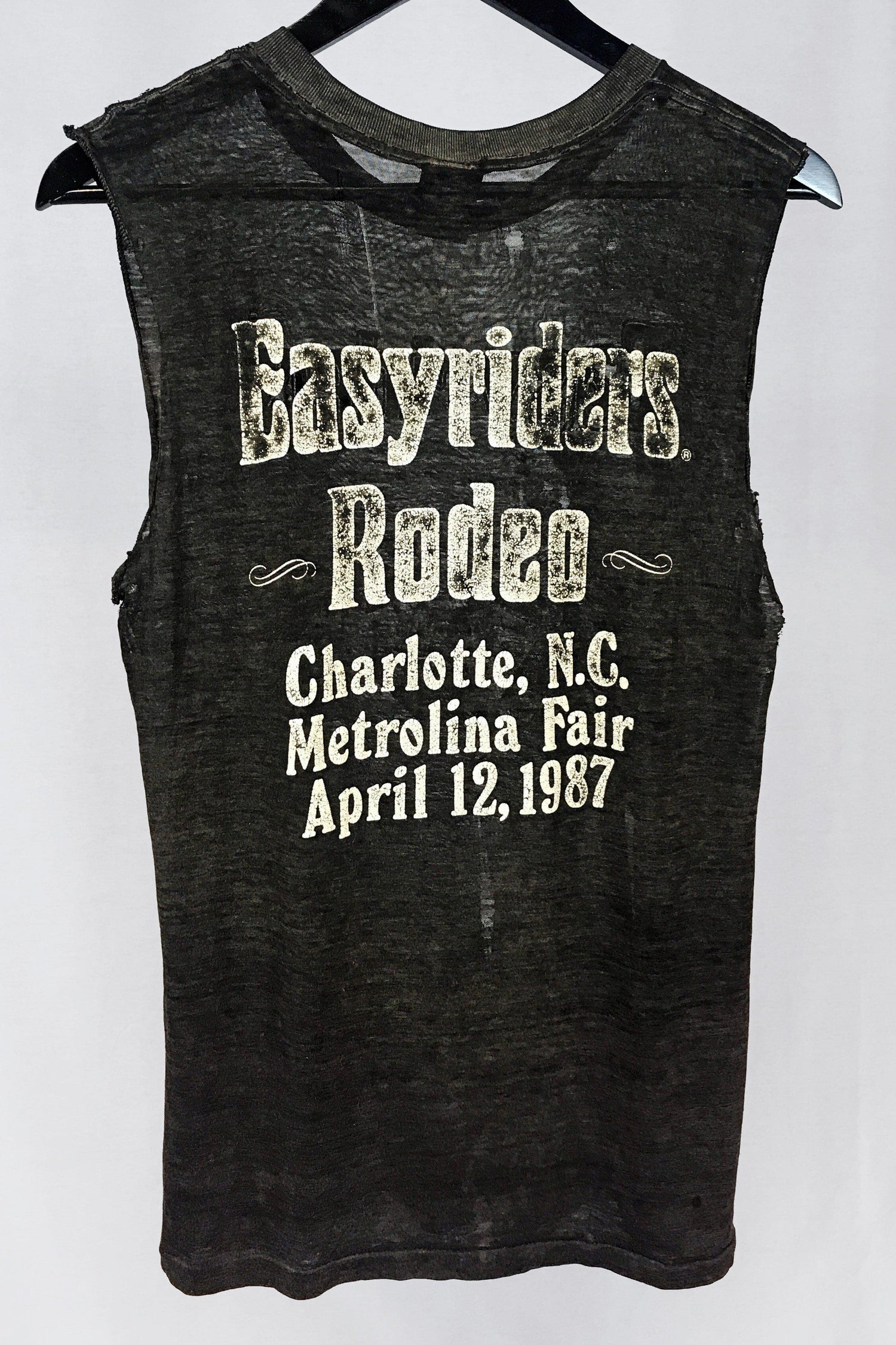 1987 Tissue Thin Easyriders Sheer & Tattered 50/50 Muscle Tee, Tops, BACKBITE, BACKBITE