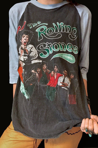Very Rare '81 Rolling Stones -It's Only Rock 'n Roll- Double Sided Raglan