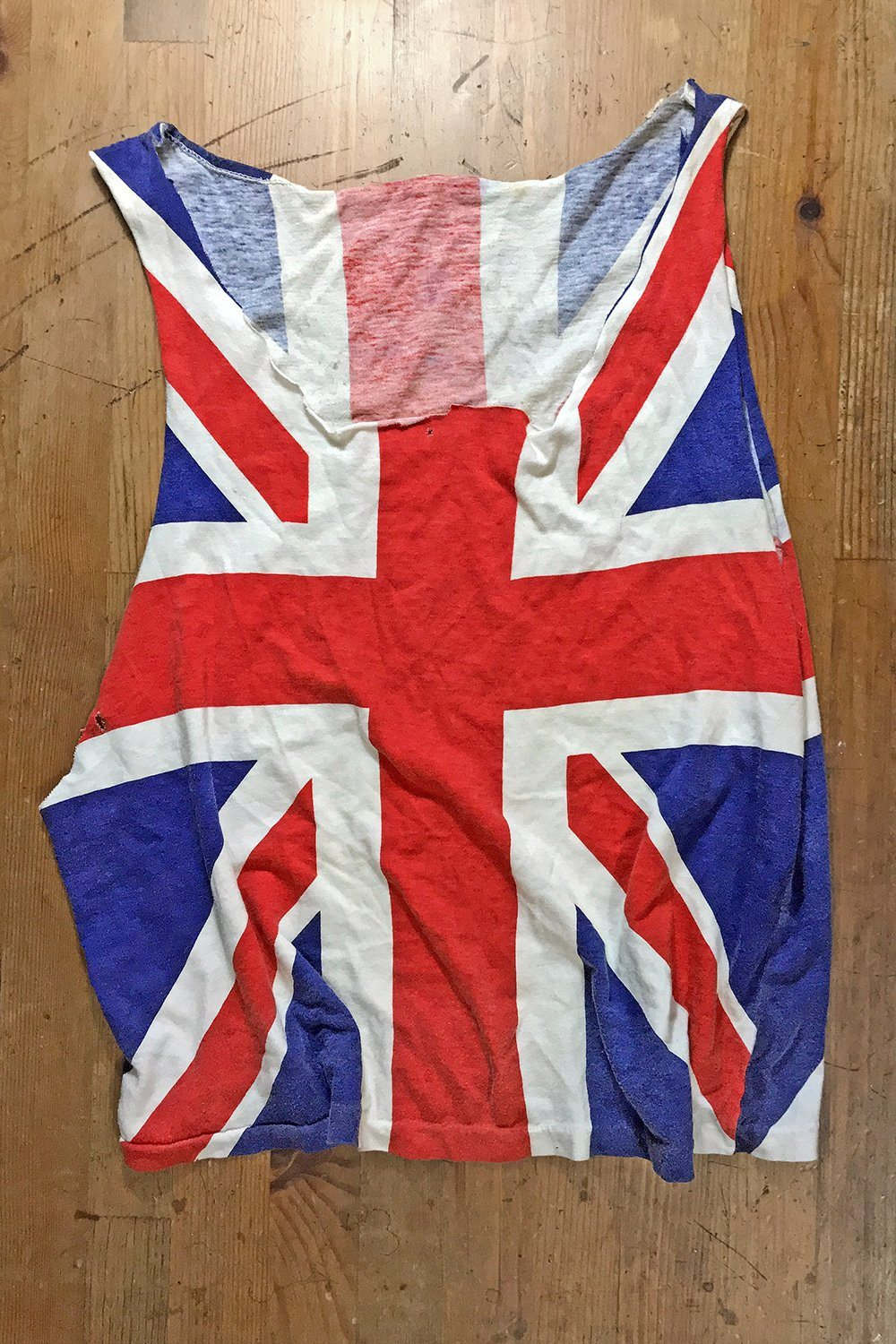 Vintage Paper Thin Union Jack Muscle Tee