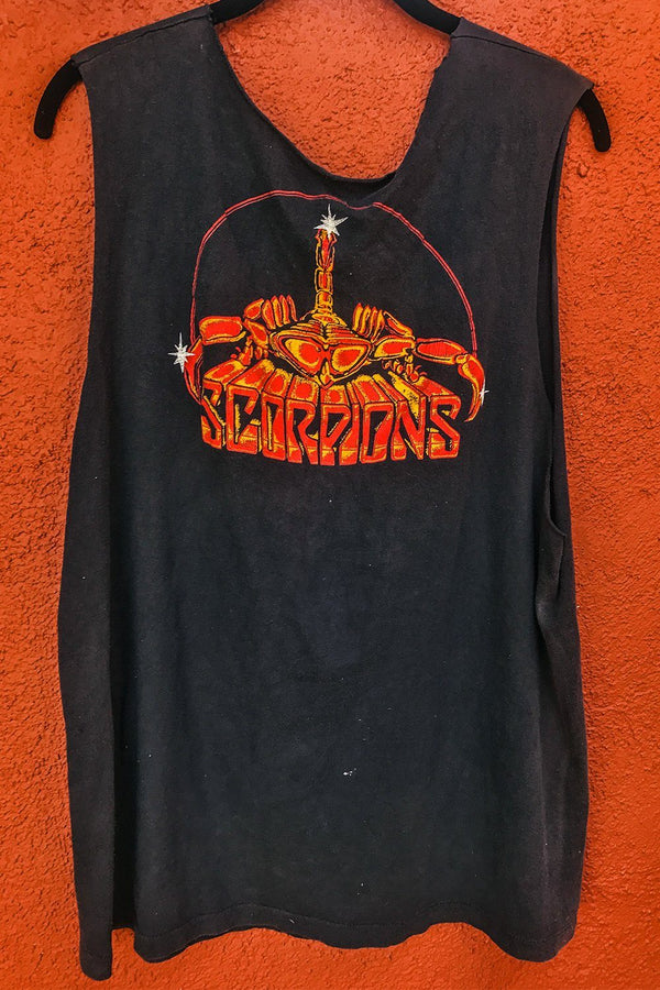1985 Scorpions Paper Thin Double-Sided Muscle Tee, Tops, BACKBITE, BACKBITE