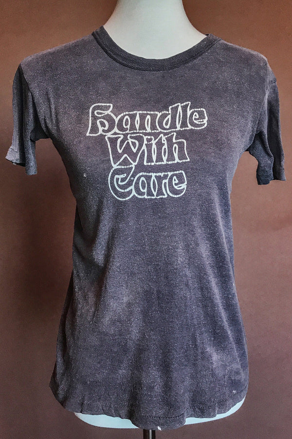1970s Handle With Care Soft & Thin Tee, Tops, BACKBITE, BACKBITE