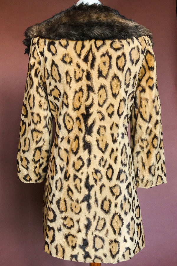 1960s Amazing Leopard Faux Fur Dream Coat, Outerwear, BACKBITE, BACKBITE