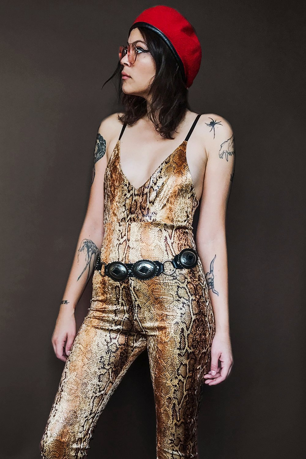 The Tropicana Jumpsuit in Golden Cobra・IN STOCK