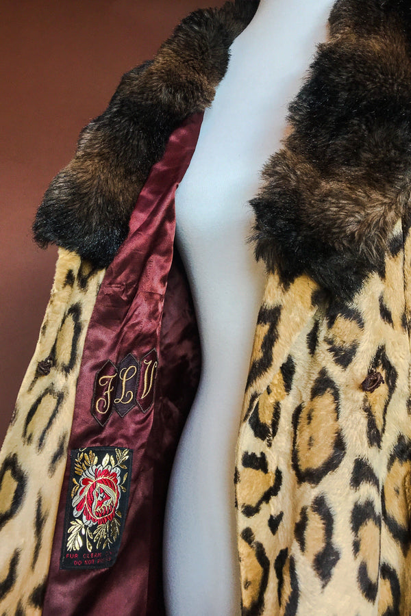 1960s Luxurious Leopard Faux Fur Dream Coat, Outerwear, BACKBITE, BACKBITE