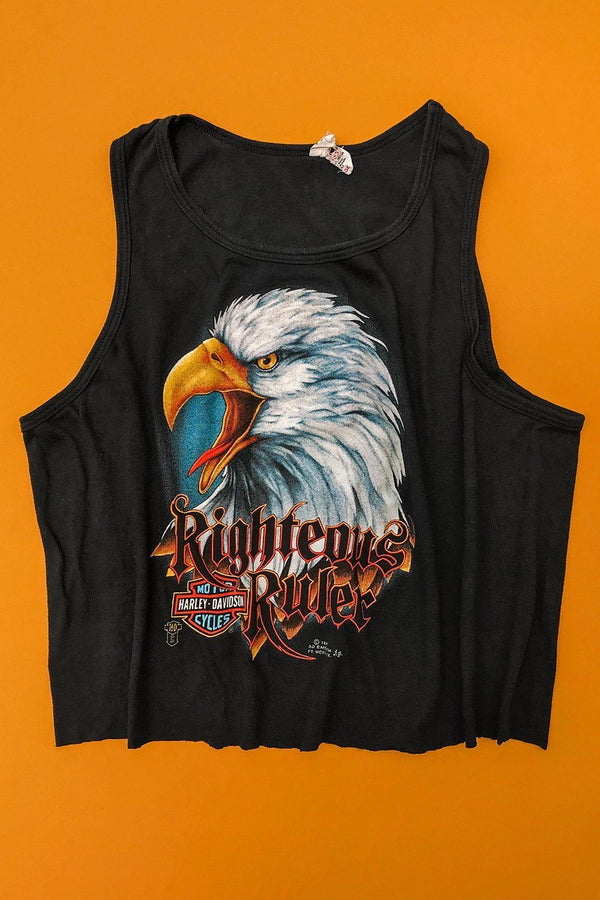 1987 Righteous Ruler Paper Thin & Soft 50/50 Cropped Tank Top