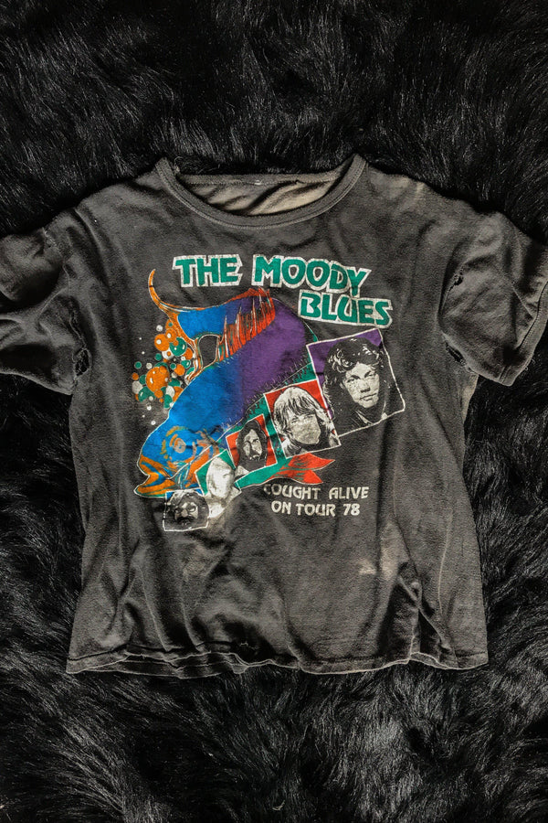 1978 Rare & Heavily Worn Moody Blues Double-Sided Tee