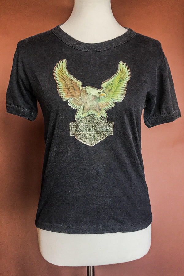Early 1970s Harley Eagle Small & Fitted Tee