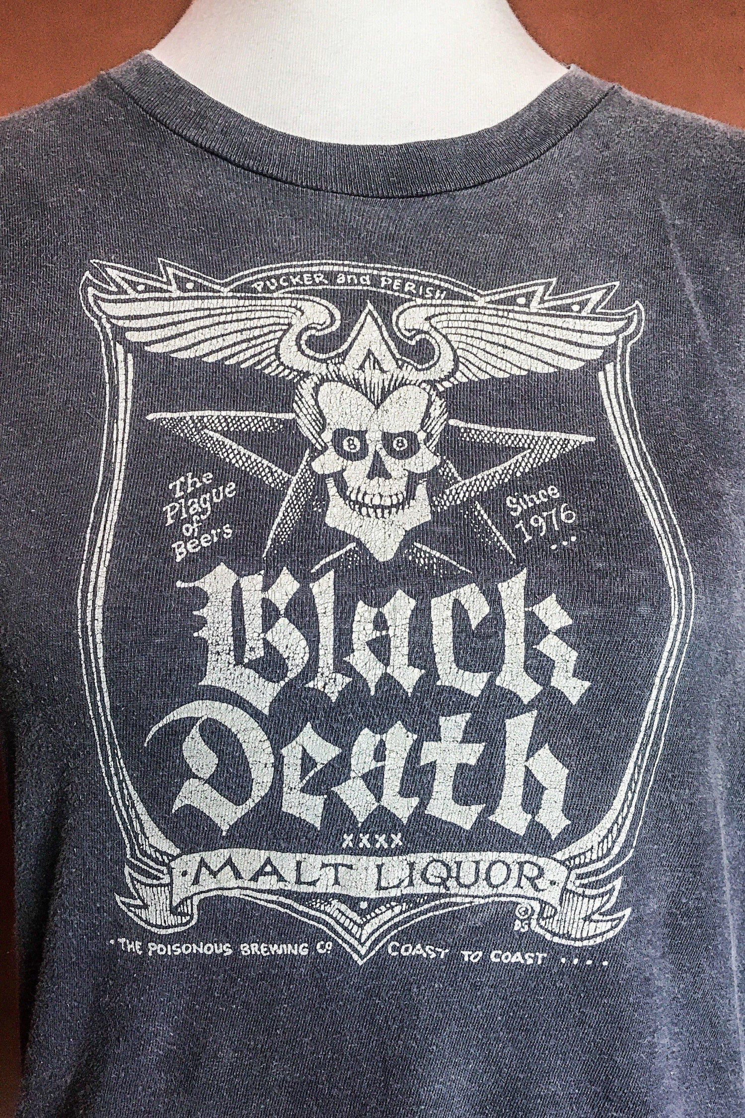 Vintage 80s Black Death Malt Liquor Soft & Thin Tee