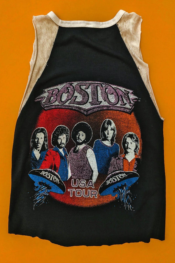 1970s Ultra Rare Double-Sided Thin & Soft Boston Tee