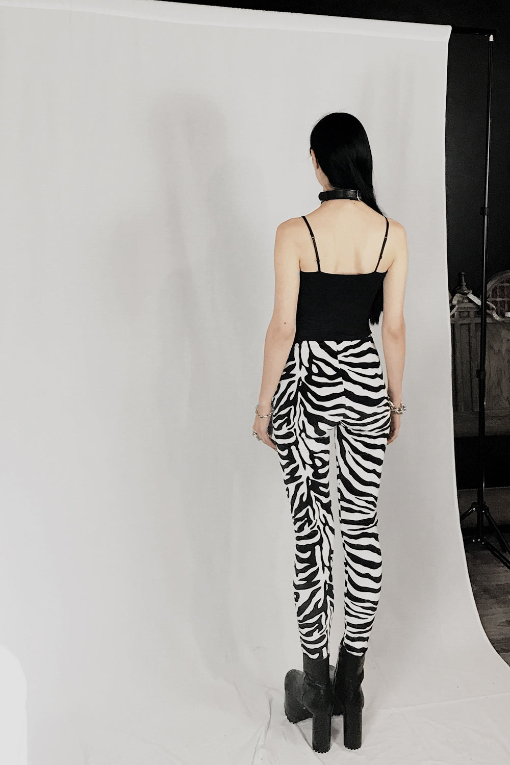 Z IN STOCK Velvet Grommet Pants Size S・Zebra, bottoms, BAD VIBES, BACKBITE