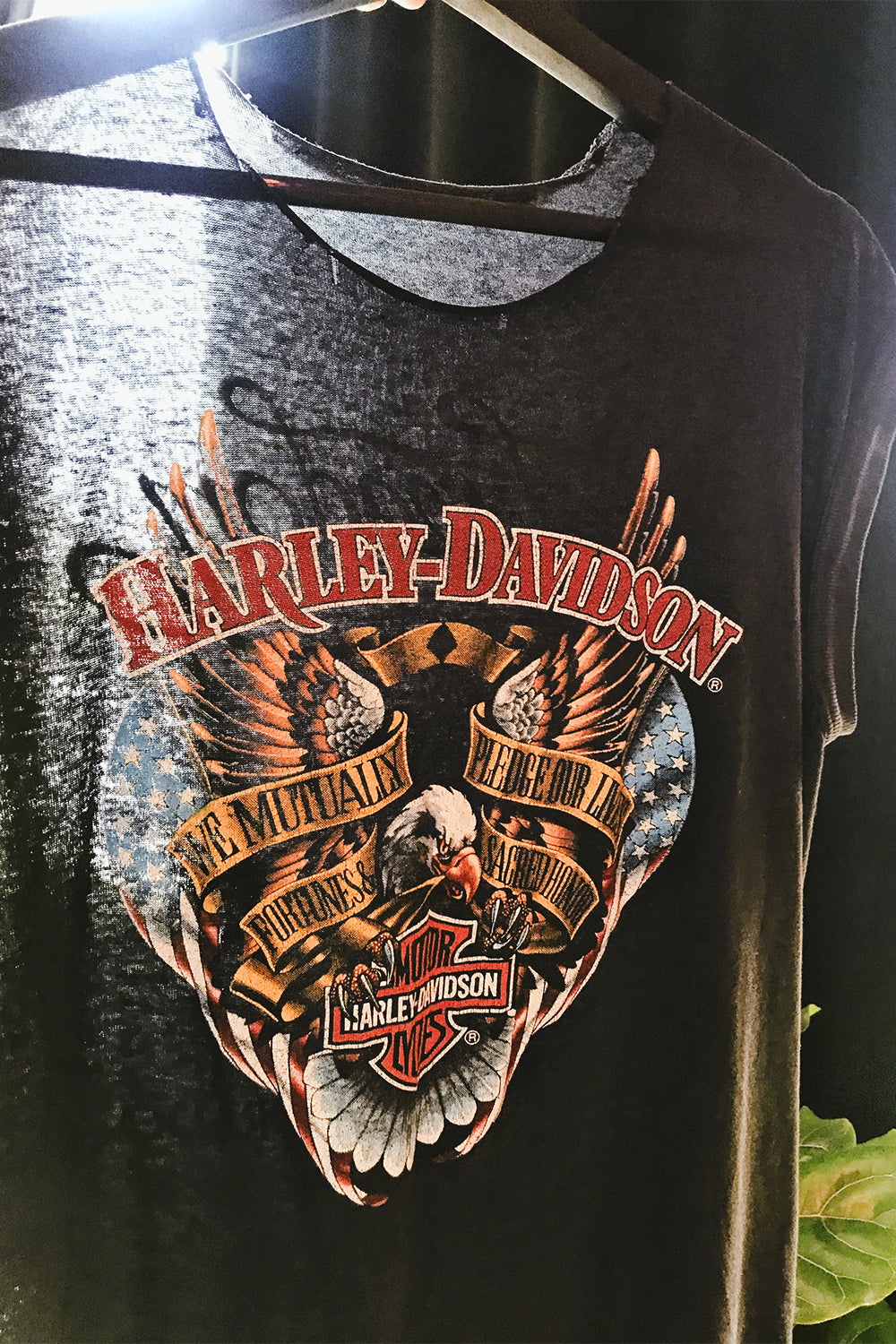 Tissue Thin 1980s Harley Muscle Tee