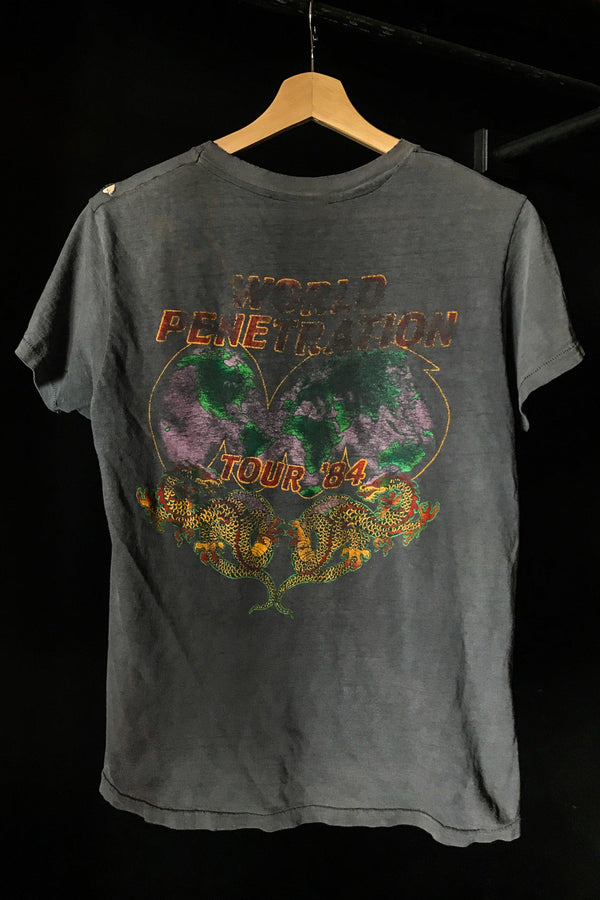 1984 Ted Nugent Tissue Thin World Penetrator Dragon Tour Shirt, Tops, BACKBITE, BACKBITE