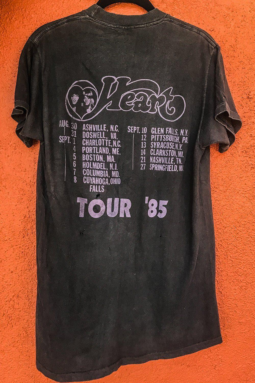 1985 Heart Thin & Soft Double-Sided Tour Tee, Tops, BACKBITE, BACKBITE