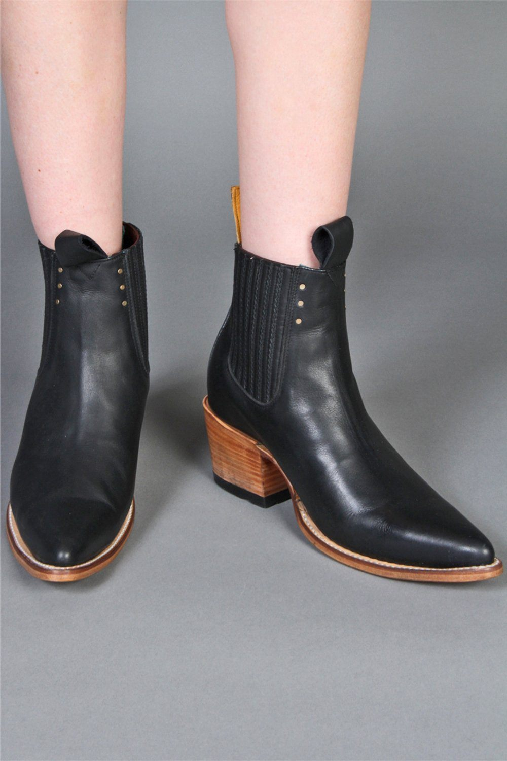 Black Freeway Chelsea Boots by PSKaufman, shoes, pskaufman