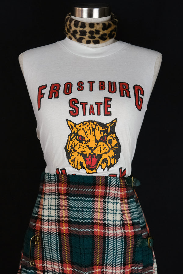 Vtg Frostburg State Bobcats Cropped Tee