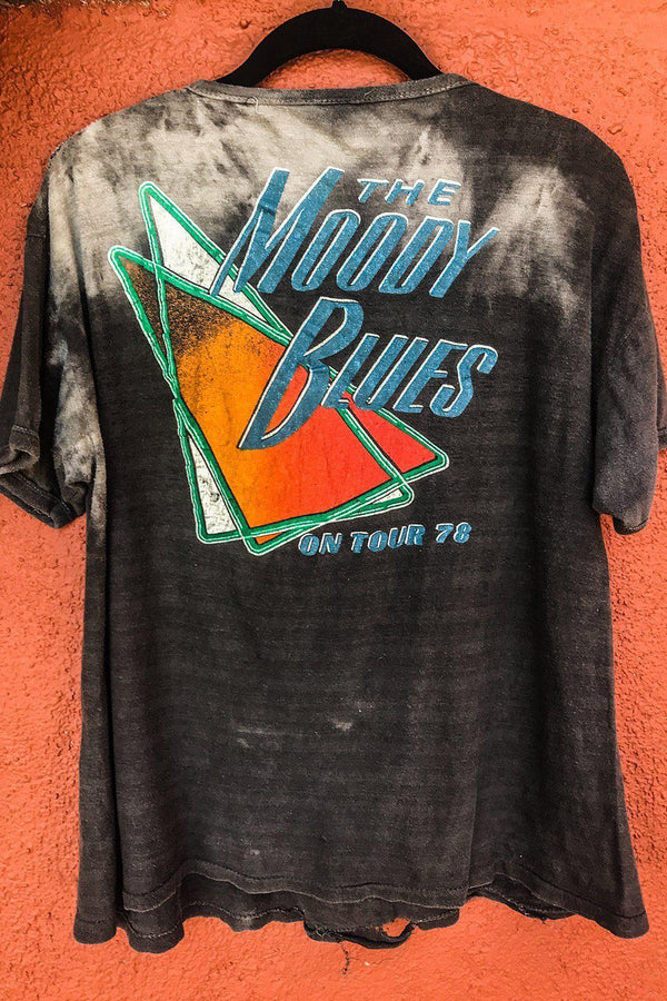 1978 Rare & Heavily Worn Moody Blues Double-Sided Tee, Tops, BACKBITE, BACKBITE