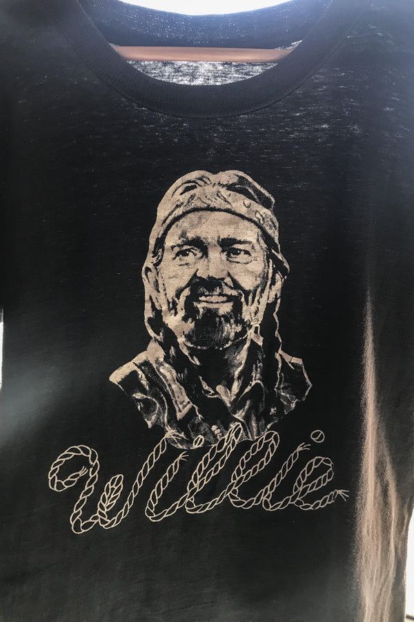 Vintage Rare Willie Nelson Soft & Faded Tee
