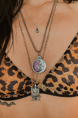 PRE-ORDER Sterling Silver Dead Moon Necklace by Trippy Tree