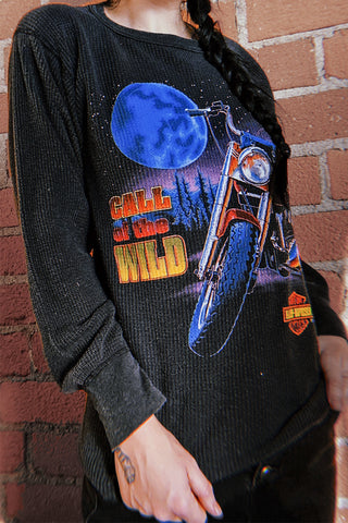 Heavily Worn Vintage Harley Davidson Thermal