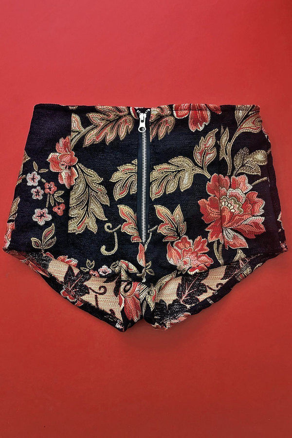 *In Stock Now!* Floral Nights Tapestry Shorts (Size M), bottoms, BAD VIBES, BACKBITE