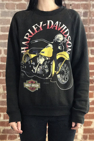 Faded 'N Worn Screen Stars Harley Davidson 50/50 Sweatshirt