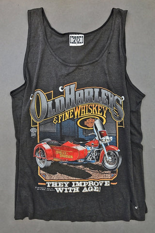 1988 Tissue Thin OId Harleys and Fine Whiskey Tattered 50/50 Tank
