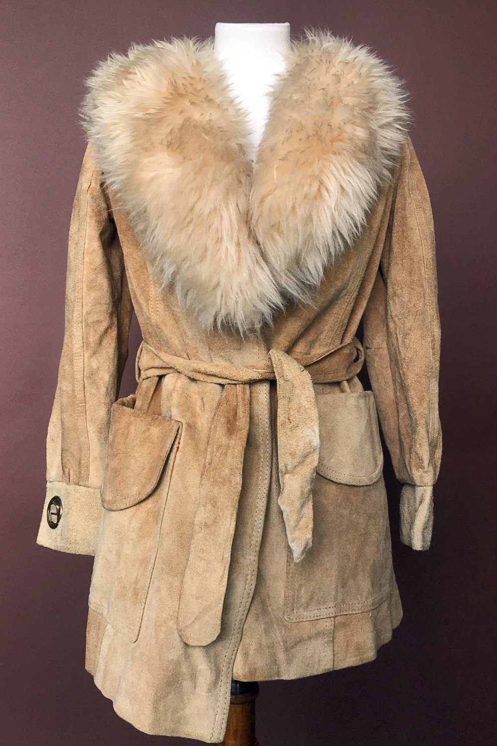 1960s/70s Nude Shearling Penny Lane Coat, Outerwear, Cru Le Fix, BACKBITE