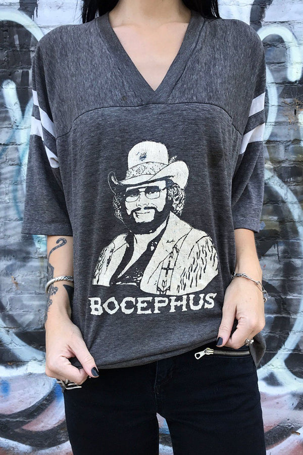 1986 Paper Thin Bocephus Hank Williams Jr. Tee, Tops, BACKBITE, BACKBITE