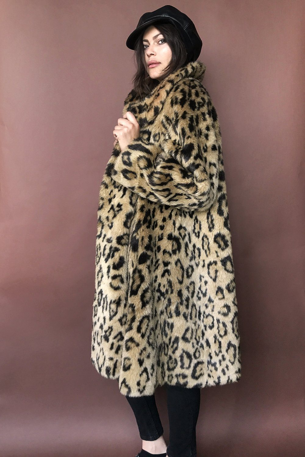 Wildcat Faux Fur Leopard Coat