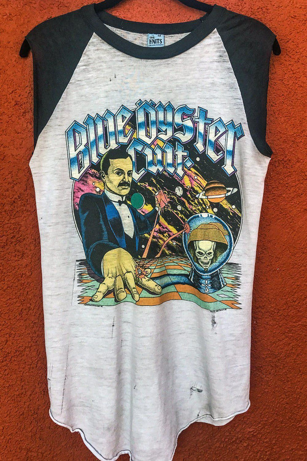1981 Tissue Thin Blue Öyster Cult Agents of Fortune 50/50 Muscle Tee, Tops, BACKBITE, BACKBITE