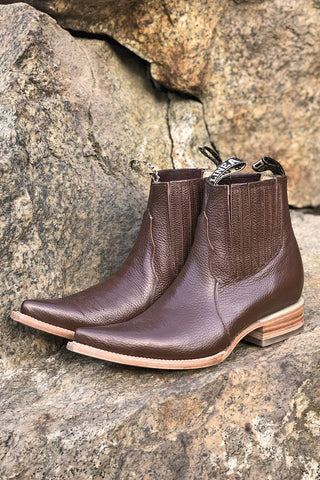 Out West Perfect Pointed Toe Chocolate Brown Mexican Chelsea Boots